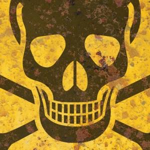 AYY031-poison-warning-skull-crossbones-symbol-rust-fx-tin-metal-sign