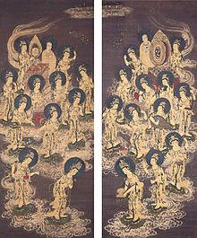 220px-Twenty-Five_Bodhisattvas_Descending_from_Heaven,_c._1300